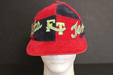 Fiesta Texas Red Black Felt Baseball Cap Trucker Biker Hipster Hat Snapback