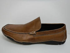 Kenneth Cole Reaction Size 9.5 Brown Leather Loafers New Mens Shoes