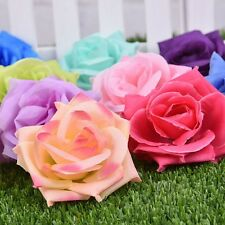 50pcs/lots Chic Artificial Rose Silk Flower Head Bulk Wedding Party Decor 9*9cm