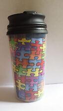 AUTISM AWARENESS TRAVEL MUG PUZZLE PIECE 11.5 FL OZ AUTISM CUP COFFEE MUG