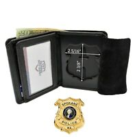 Cobra Tufskin Cleveland Police Badge Wallet Stamford B1246 Genuine Leather