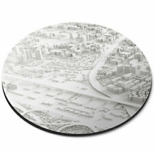 Round Mouse Mat - Cool 3D City Model Aerial Cityscape Office Gift #16323
