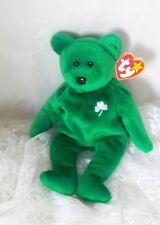 """TY Beanie Bear """"Erin"""" 1997 Retired - Rare Errors - Emerald Isle - Irish"""