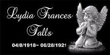 Personalized Pet Stone Memorial Grave Marker Granite Human plaque Child baby