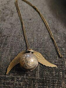 Harry Potter Golden Snitch Pocket Watch Necklace