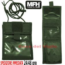 Porta foglio documenti tesserino Cargo Wallet da collo MFH Portadocumenti Verde