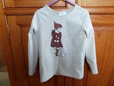BEAUTIFUL Girl's HANNA ANDERSSON Top Age 5 Marled Oatmeal From USA