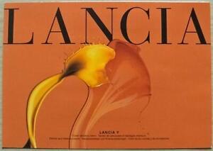 LANCIA Y Car Exterior Interior Colour Chart Brochure Oct 2001 #18.5.6375.72-S