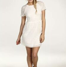 Free People Lace Dress Candy Ivory Cream Vintage Inspired Mini SS Sz 8 NWT