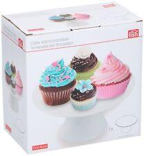 Tish Ceramic White Birthday Cake Cupcake Muffin Display Stand Plate Pedestal