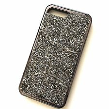 For iPhone 7+ 8+ Plus - HARD HYBRID ARMOR CASE COVER BLACK CRYSTAL DIAMOND STUDS