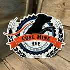 Coal Mine Ave Brewing Co Tin Tacker Metal Beer Sign