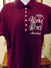 Hard Rock Cafe Amsterdam Women's top burgundy large
