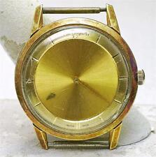 Vintage 1960's Paul Breguette 14k yellow Gold Waterproof MYSTERY DIAL Watch