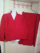Women's Cato Woman 2 PC Red Skirt Suit. Skirt-jacket.. Size 20 - 24.