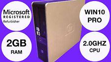 HP Compaq dc5800 REFURBISHED Desktop Small Form Factor PC Windows 10 Pro Intel