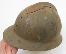 (2) GENUINE WW2 FRANCE FRENCH ARMED FORCES ADRIAN HELMET SHELL