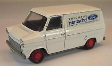 Schuco 1/66 Nr. 311 912 Ford Transit Kastenwagen Autohaus Hentschel Werbem. #282