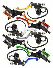 "CNC 7/8"" Motorcross Master Cylinder Reservoir Hydraulic Brake Clutch Levers Set"