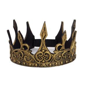 Cosplay King Crown Men Halloween Party Crown Wedding Headwear