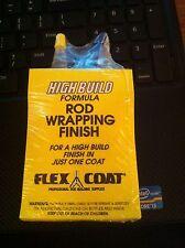 Flexcoat 4 Oz Ultra V Hi Build Rod Thread Finish V4Y Kit-Yorker Caps-Free Ship