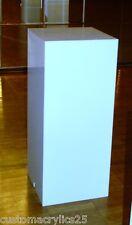 "White or Black Lucite/Acrylic Pillar/Pedestal/Column - 12"" square x 18"" high"