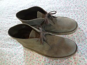 Clarks Originals Womens Grey Suede Leather Lace Up Lightweight Boots UK 6 E 39.5