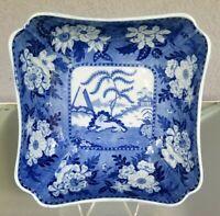 "10"" Blue & White Transferware Bowl ""Lion Hunter"" English"