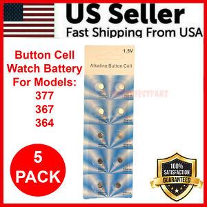 5 x OEM SPEC 377 376 364 363 WATCH BATTERY SR626SW SR626W Silver Oxide Battery