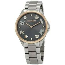 COACH MODERN SPORT QUARTZ GREY DIAL LADIES WATCH