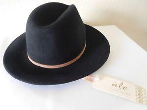 New Ale by Alessandra Aurora Classic Adjustable Wool Felt Fedora Hat +UPF 50+