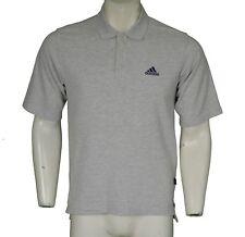 Adidas Grey Marl Polo Shirt Men's Size S Small