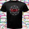 SLIPKNOT Star Logo Metal Rock Band Men's Black T-Shirt Size S to 3XL