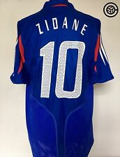 ZIDANE #10 France Euro 2004 Adidas Home Football Shirt Jersey 2004/06 (L)