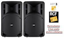 "RCF Art 315A mk4 Coppia Casse amplificate attive professionali 15"" 1600W"