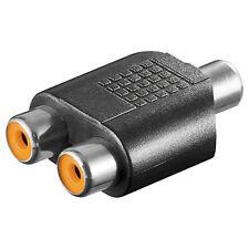 2 ST. Audio-Adapter Cinch Kupplung>2x Cinch Kupplung 10021