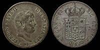 pci1064) Napoli Due Sicilie Ferdinando II piastra 1855 TONED !!!