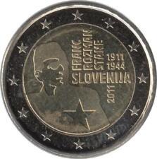 """Slowenien 2 Euro 2011 """"100. Geburtstag von Nationalheld Franc Rozman – Stane"""""""