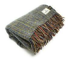 100% Recycled Wool Hebridean Rug/Blanket/Throw Large Grey Multi
