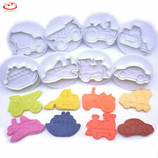 8pcs Fondant Cake Cutter Plunger Cookie Mold Sugarcraft Decorating Mould Tool