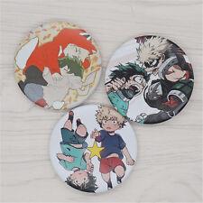 Boku no hero academia badge badges pin buttons 3pcs/set cosplay 5.8cm