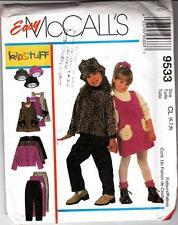 Girls Jumper Jacket Pull-on Pants Hat Size Sewing Pattern M9533 NIP Size 6, 7, 8