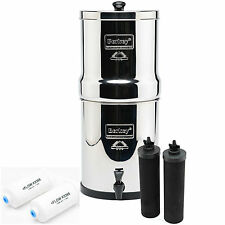 Big Berkey Water Filters BB9 Black Purifier Filter + PF2 Fluoride Filter Bundle