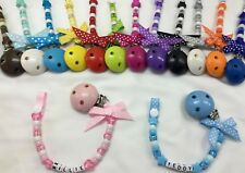 ❤ PERSONALISED DUMMY CLIP ❤ 12 LETTERS  With/without Bow ❤  *BUY 2 GET 1 FREE*