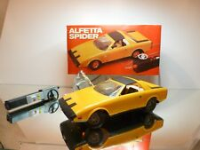 ANKER GA52 ALFETTA SPIDER  PININFARINA - REMOTE - YELLOW 1:12 - VERY GOOD IN BOX