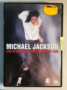 Michael Jackson Live in Bucharest The Dangerous Tour DVD (DISC MINT) Pal R4