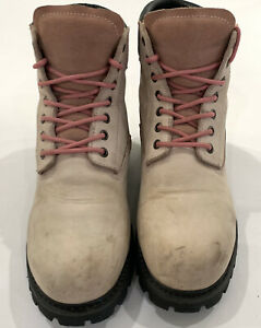 MOXIE TRADES Womens Pink Alice Steel Toe 6 INCH WORK BOOTS XTREME Size 11