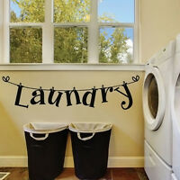 Laundry Room Wall Sticker Home Decor Wash House Vinyl Removable Wall