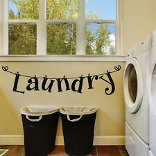Wall Sticker Home Decor Vinyl Arts Mural Removable Decal Washhouse Laundry Rooms