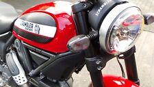 Noir Lunettes de clignotants Ducati embrouilleur fumé VERRE DE SIGNAL